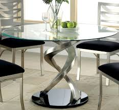 glass top for table round round glass top dining table ideas table design