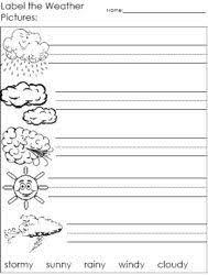 Kindergarten Weather Worksheets Favorite Type Of Weather Worksheet Science Weather