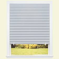 temporary shades shades the home depot gray paper room darkening pleated shade 48 in w x