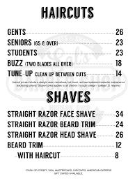 prices u2013 sal u0027s barber shop