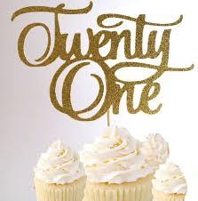 21 cake topper number 21 gold glitter birthday cake topper 21st birthday from