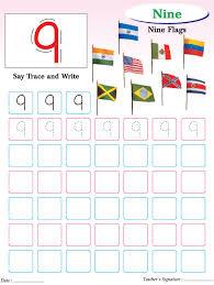 numbers writing practice worksheet 9 download free numbers