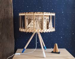 carousel table lamp nursery decor diy gift for baby shower