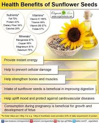 health benefits of sunflower can be gained in two forms namely