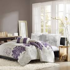 amazon com home essence chloe 4 piece bedding set queen purple