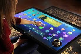 android table android powered coffee table tablet is big enough for whole family