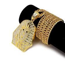 aliexpress buy nyuk new fashion american style gold nyuk gold hip hop men s style rock pharaoh pendant necklace