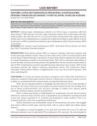 systemic lupus erythematosus presenting as hypokalemic periodic