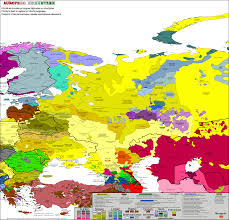 East Europe Map by Eastern Europe Carte Linguistique Linguistic Map