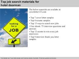 Doorman Job Description Resume by Hotel Doorman Cover Letter