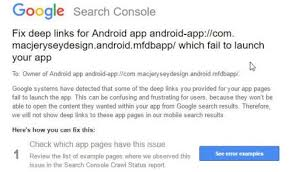 android uri help gsc message fix links for android app error intent