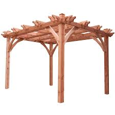 Pergola Kits Cedar by Shop Outdoor Living Today Natural Cedar Freestanding Pergola At