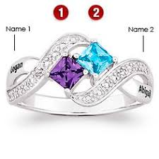 mothers rings 2 stones sterling silver hearts ablaze promise ring ring rings and
