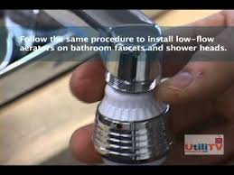 Low Flow Bathroom Faucet Save Money With Low Flow Faucet Aerators Youtube