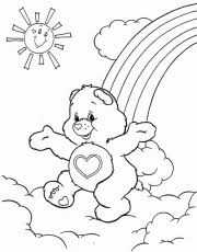 follow the leader care bears coloring pages coloring home
