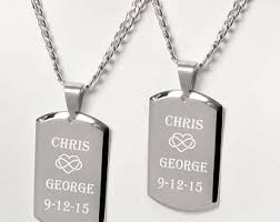 his and hers dog tags couples dog tag etsy
