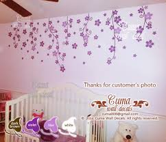 Purple Wall Decals For Nursery Flower Wall Decal Nursery Pink Flower Cuma Wall Decals