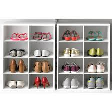 shoe organizer 8 pair shoe organizer the container store