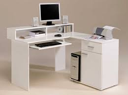 stylish computer desk stunning white fashionable computer desk design with classic shelves