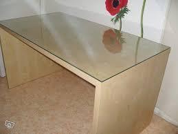 plateau verre trempé bureau bureau ikéa plus plateau en verre trempé déco