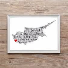 wedding gift map engagement word gift map of anniversary wedding present