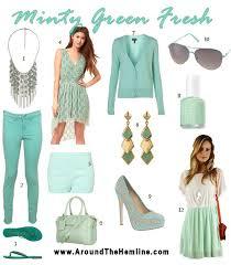 mint green around the hemline