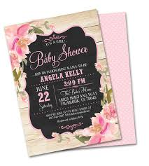 brunch bridal shower invitations rustic bridal shower invitation vintage chalkboard pink blush
