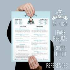 hipster resume and cover letter template for microsoft word from