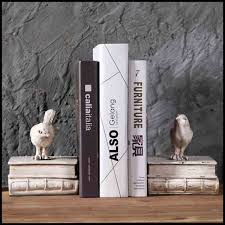 malaysia shabby chic home decor resin cute bookends with white