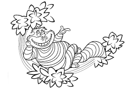 cheshire cat coloring pages download print free