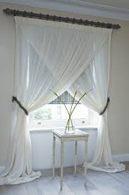 Easy Way To Hang Curtains Decorating Overlapping Sheer Panels Unique Way To Hang Curtains