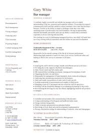operations manager resume template operations manager resume sle pic bar manager cv template