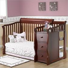 Crib Bed Combo Sorelle Tuscany 4 In 1 Convertible Crib And Changer Combo