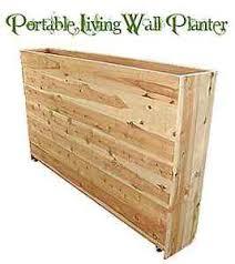 portable privacy living wall planter box new custom natural wood