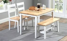 White And Oak Dining Table Painted Dining Table Sets Great Furniture Trading Company The