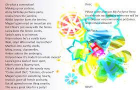 my perfume party 15th birthday party invitation