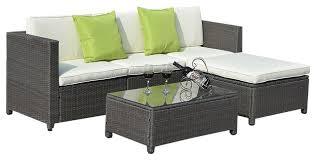 rattan lounge sofa outdoor patio 5 furniture sectional pe wicker rattan sofa