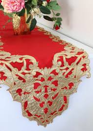 gold table runner and placemats lace table runners paper table runners wedding decorations at