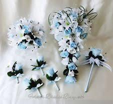Blue Wedding Bouquets Bridesmaid Wand Flowers Petals U0026 Garlands Ebay