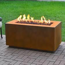 Propane Fire Pit Insert by Corten Steel Propane Fire Pit Table U0026 Reviews Allmodern