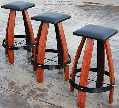 bar stools inspirational wine barrel bar stool plans wine barrel