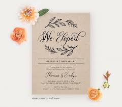 elopement invitations we eloped reception invitation template printable elopement