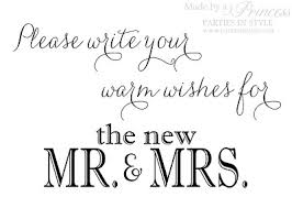 wishes for the mr and mrs guest book wedding reception sign