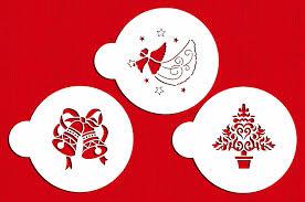 amazon com designer stencils c164 christmas cookie stencils
