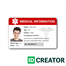 medical id cards id badges from idcreator com quick shipping