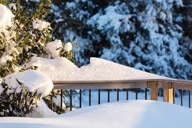 Deck In The Backyard Deep Snow In Drifts On Deck In Back Yard