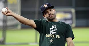 Your Moms Chest Hair Meme - astros wear we play for santa fe shirts during batting practice