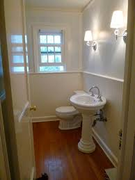 Kohler Archer Pedestal Sink by Powder Room Facelift The Wry Home