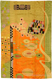 Green Modern Rug Klimt Green Orangemodern Abstract Rug Wall Embroidered