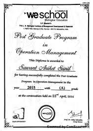 post graduation diploma it operation management